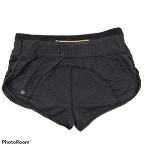 Lululemon Run Striped Subtle Camo Speed Shorts 4